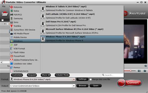 format audio lumia 640 put mkv avi vob flv wmv mts to lumia 640 640 xl for