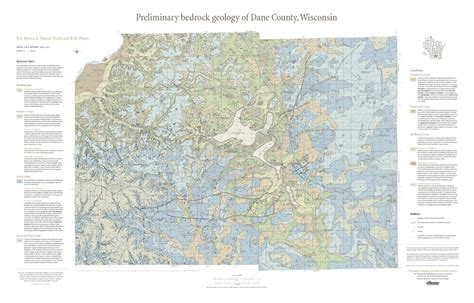 Dane County Records Wisconsin Geological History Survey 187 Preliminary Bedrock Geology Of Dane