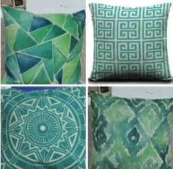 coussins turquoise get cheap teal decorative pillows aliexpress
