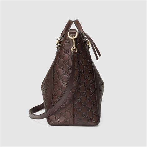 21 7 Handbag Gucci 3332 lyst gucci miss gg ssima leather top handle bag in brown