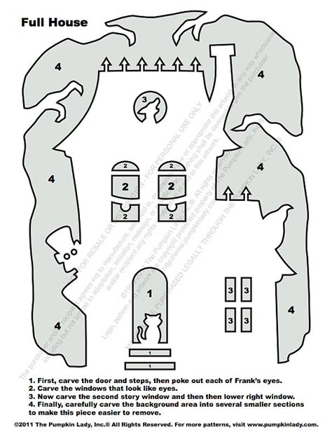printable haunted house pumpkin carving patterns haunted house stencil 20 free halloween printables to