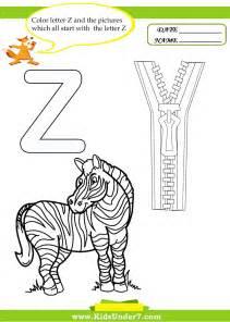 kindergarten worksheets for letter z letter z alphabet