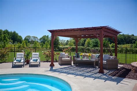 wood vs vinyl pergola byler barns
