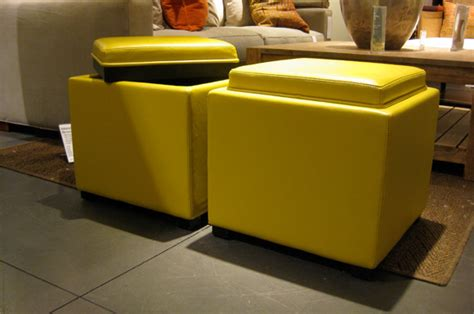 yellow storage cube ottoman 20 ottoman with storage ideas for your living room housely