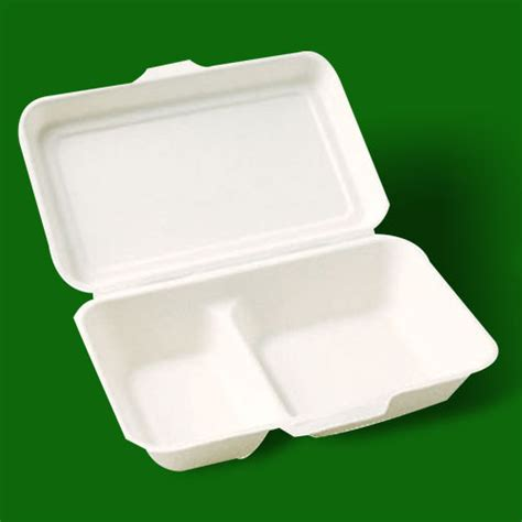 Paper Box Lunch Ukuran M disposable 1000ml 2 compartment paper lunch box in