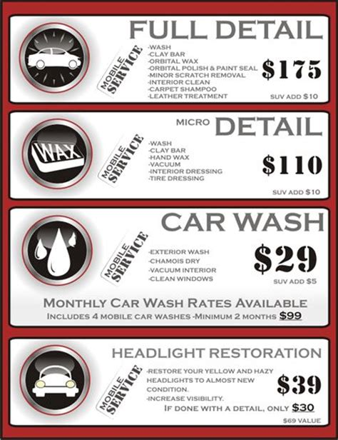 Interior Car Detailing Prices by Maculate Detail Detail Pricing Simi Valley Ca