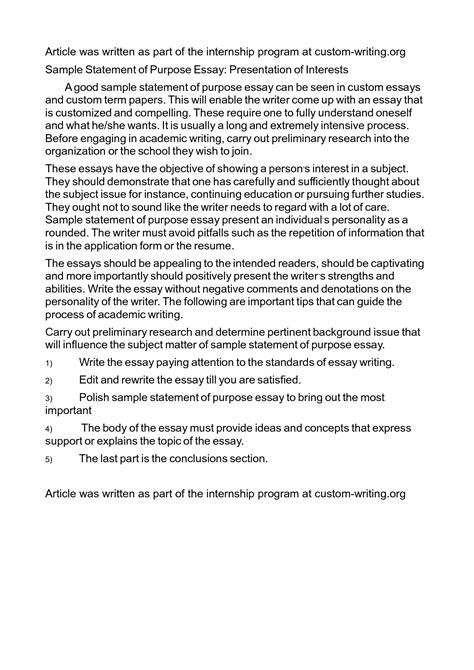 Mba Statement Of Personal Interest Format by Sle Essays For Mba Mba Admissions Essays Mba Essay