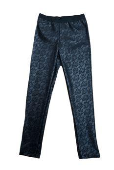 Tween Pattern Leggings | ragdoll rockets black faux leather lace pattern leggings