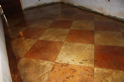 Concrete Stained Floors by Acid Stained Concrete Floors Countertops Boston Checkers