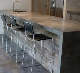 Cement Bar Top by 25 Best Ideas About Kitchen Bar Counter On