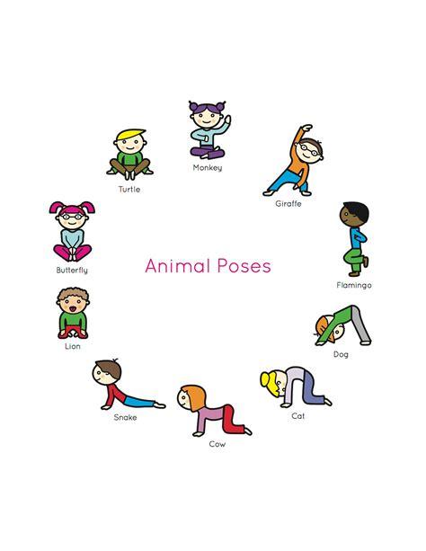 yoga poses and names for kids kids yoga book my first yoga animal poses levi