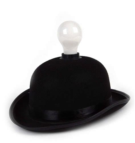 Hat With Light Built In by Lightheaded Bowler Hat With Built In Light Bulb L Ebay