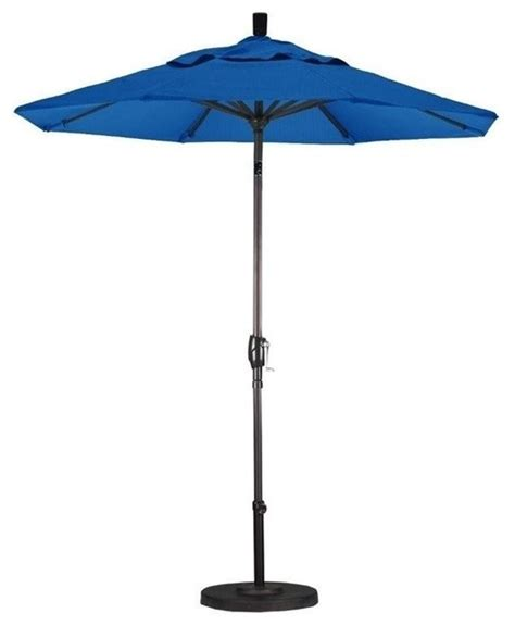 Blue Patio Umbrella California Umbrella 7 5 Market Patio Umbrella Blue Outdoor Umbrellas By Homesquare