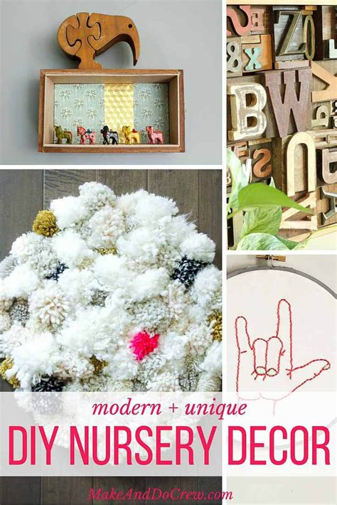 12 unique and modern diy nursery decor ideas