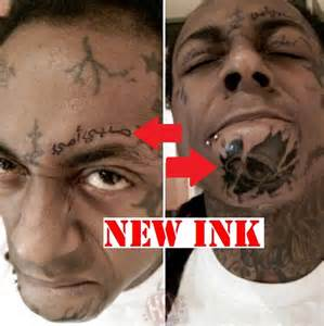 Lil wayne new ink on face 0123 2