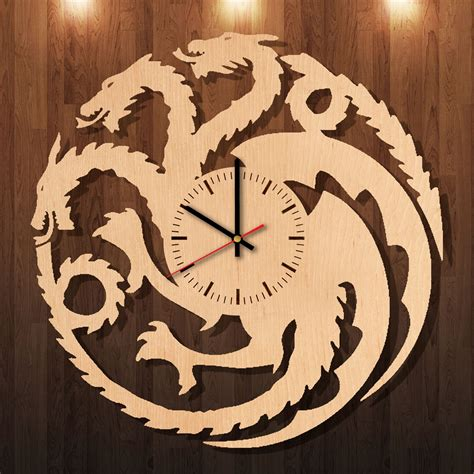 Wall Clock Handmade - of thrones handmade wood wall clock