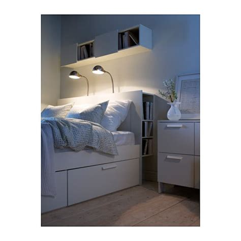 brimnes bed frame with storage headboard brimnes headboard with storage compartment white standard