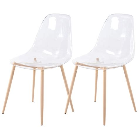 Chaise Transparente by Chaise Fredrik Transparente Lot De 2 Choisissez Nos