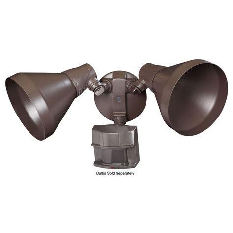 Motion Sensor Outdoor Lighting Home Depot Heath Zenith 180 Degree Outdoor Motion Sensing Security Light Sl 5412 Bz The Home Depot