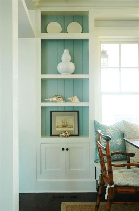 Dining Room Built Ins Cottage Dining Room Morrison | morrison fairfax interiors turquoise blue cottage dining