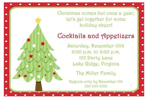 free downloadable christmas party invitation templates