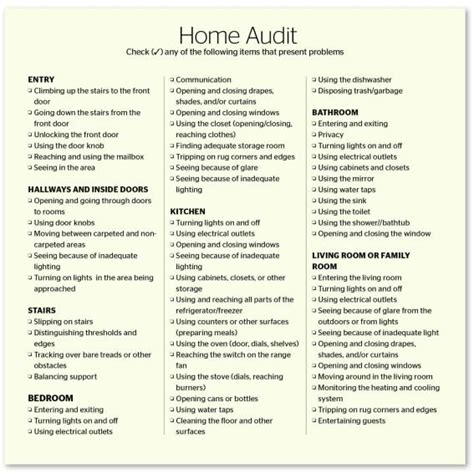 home design checklist template problem solver comprehensive universal design checklist