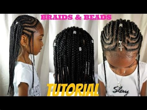kids natural hair styles | braids & beads tutorial (alicia