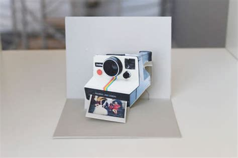 typewriter pop up card template how to make a diy polaroid pop up card