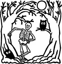 halloween skeleton coloring pages az coloring pages
