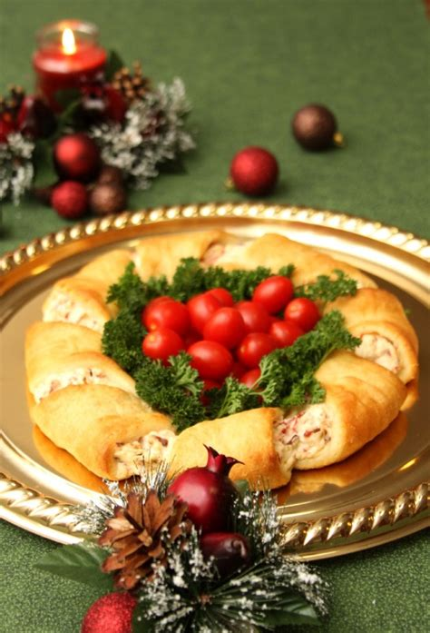 crescent roll christmas wreath crescent rolls appetizer recipes just of