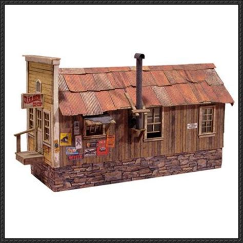 Papercraft Buildings - this building paper model is a randsburg barbershop