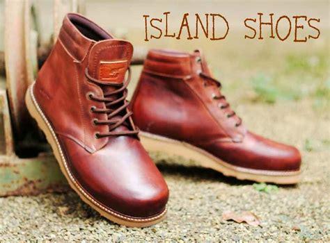 Sepatu Island sepatu boots kulit asli tahan bara island shoes
