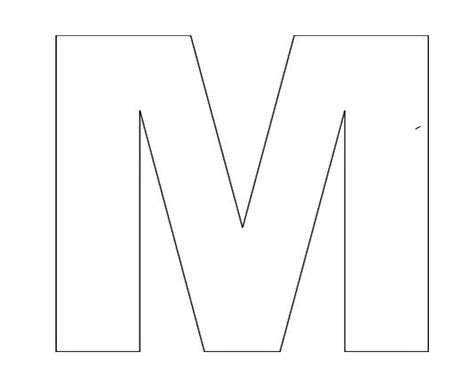 Alphabet Letter M Template For Kids 2,200×1,800 pixels