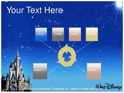 Disney World Powerpoint Template Slideworld Disney Powerpoint Template