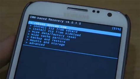 reset samsung note 2 how to restore samsung galaxy note 2 with clockworkmod
