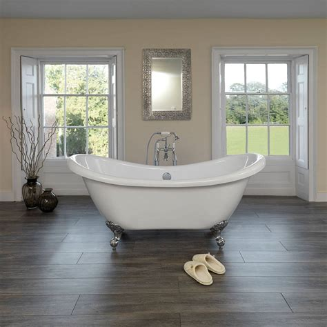 top two roll top baths for a transitional bathroom design