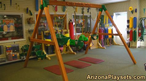 stand alone swing for toddler gorilla playsets free standing swing set review from