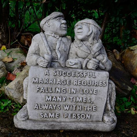 Wedding Anniversary Stones by Successful Marriage Garden Statue Anniversary Gift