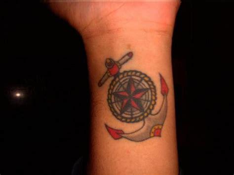 compass tattoo left wrist 48 best anchor compass tattoos