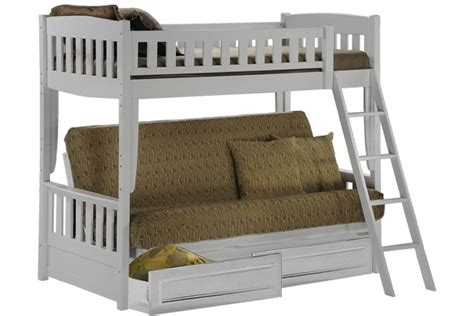 futon kids white bunk bed sofa wood futon bunk sofa bed white the
