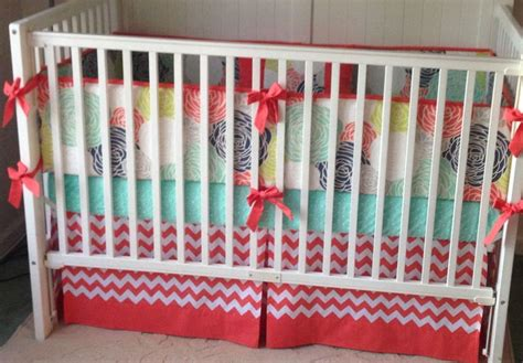 navy and coral crib bedding 48 best navy coral and mint nursery images on pinterest mint nursery coral navy and