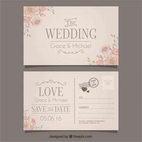 Hochzeitseinladung Postkarte by Postkarte Vektoren Fotos Und Psd Dateien Kostenloser