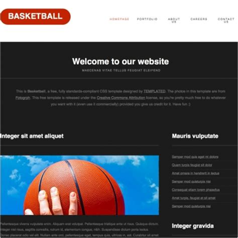 Basketball Free Website Templates In Css Html Js Format For Free Download 703 49kb Free Basketball Website Templates