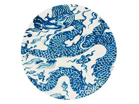 GAN Blue China White Chain Stitch Rug by Mapi Millet
