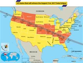 us map solar eclipse solar eclipse 2017 map total great american solar