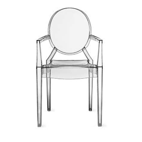 Louis Ghost Stool by Louis Ghost Armchair By Philippe Starck For Kartell