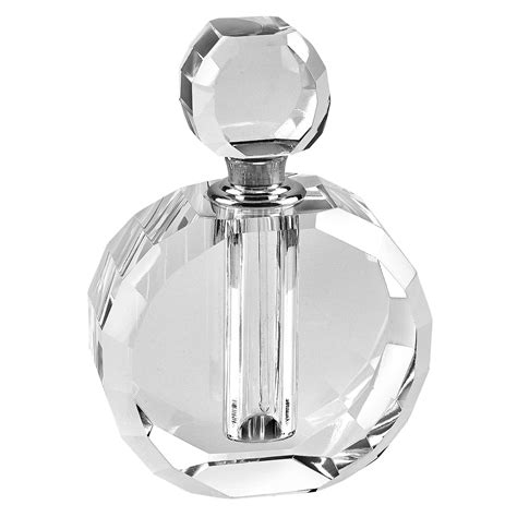 Silver Vases Wedding Centerpieces Handmade Glass Zoe Round Crystal Perfume Bottle H4 Quot
