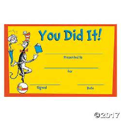 moving up certificate templates dr seuss you did it certificates trading