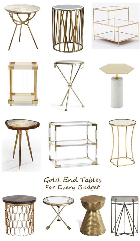 gold end table 17 best ideas about gold end table on gold