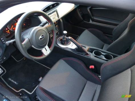 black subaru brz interior black cloth interior 2013 subaru brz premium photo